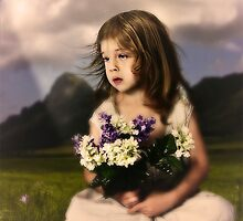 Children with lilac flowers by Igor Giamoniano