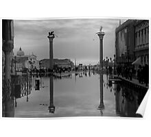Reflections- Piazza San Marco  Poster