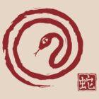 Chinese Galligraphic Snake as Symbol of Year 2013 by Anastasiia Kucherenko