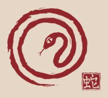 Chinese Galligraphic Snake as Symbol of Year 2013 by Anastasiia Kucherenko