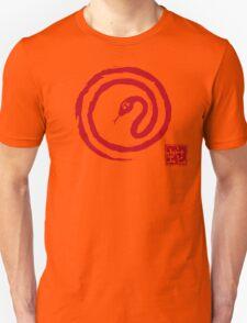 Chinese Galligraphic Snake as Symbol of Year 2013 Unisex T-Shirt