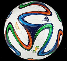 2014 FIFA World Cup Brazil match ball big enough for duvet by JoAnnFineArt