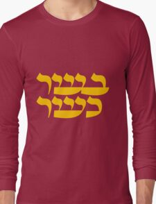 Kosher Meat in Hebrew Long Sleeve T-Shirt