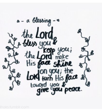 Numbers 6: The Lord bless you Sticker