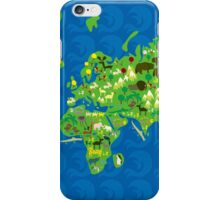 Cartoon Map of Flora and Fauna of the World  iPhone Case/Skin