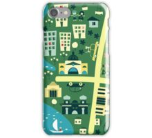 Cartoon Map of Melbourne iPhone Case/Skin