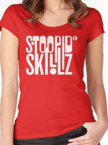 Stoopid Skillz Women's Fitted Scoop T-Shirt