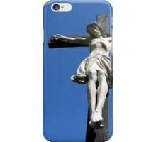 Statue of Jesus On The Cross iPhone Case/Skin