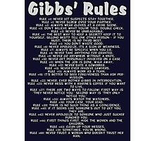Gibbs' Rules - Grey Version Photographic Print