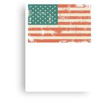 Grungy US flag Canvas Print