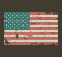 Grungy US flag by Anastasiia Kucherenko