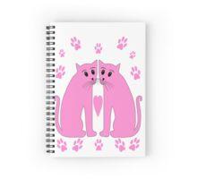 Two Pink Cats' sherbert Paws. Spiral Notebook