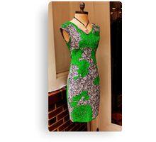 Green dress Canvas Print