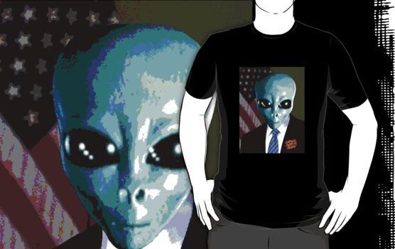 President Bush Alien by ALAN NAJMAN
