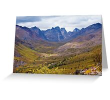 Tombstone Mountains fall colors Greeting Card