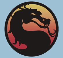 mortal kombat logo Kids Clothes
