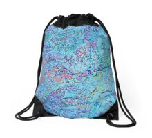 Crying Eye Drawstring Bag