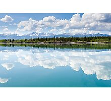 Yukon wilderness cloudscape reflected on calm lake Photographic Print