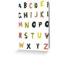 english alphabet Greeting Card