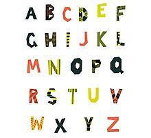 english alphabet Photographic Print