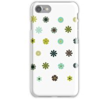 flower stickers iPhone Case/Skin