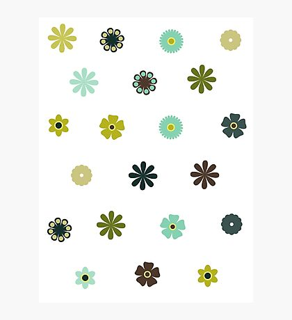 flower stickers Photographic Print