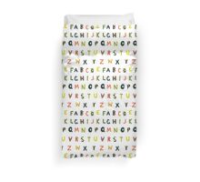 english alphabet Duvet Cover
