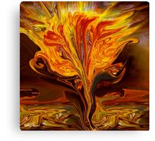 Flame of Love- Abstract 114-   Art + Products Design  Canvas Print