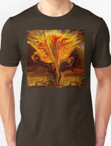 Flame of Love- Abstract 114-   Art + Products Design  Unisex T-Shirt