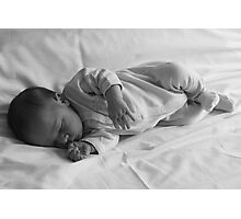 Little boy on the bed Photographic Print
