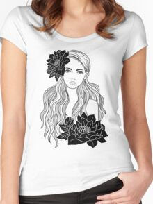 Tropical Girl Women's Fitted Scoop T-Shirt