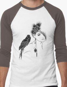 Parrot Girl 2 Men's Baseball ¾ T-Shirt