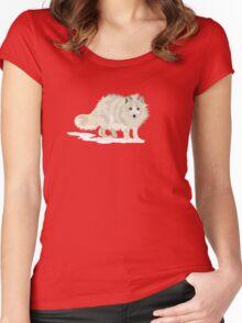Arctic Fox vector Women's Fitted Scoop T-Shirt