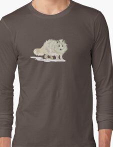 Arctic Fox vector Long Sleeve T-Shirt