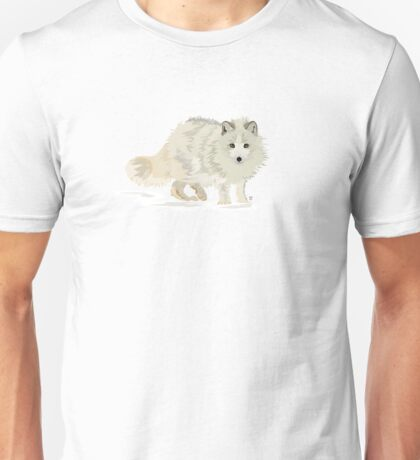 Arctic Fox vector Unisex T-Shirt