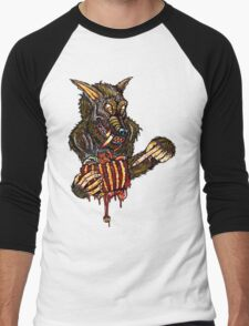 Werewolf With A Manwich Men's Baseball ¾ T-Shirt