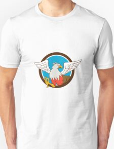 Hiippogryph With Talons Circle Cartoon T-Shirt