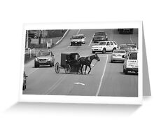 Left Turn Greeting Card