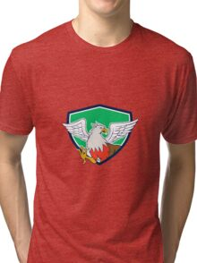Hippogriff With Talons Shield Cartoon Tri-blend T-Shirt