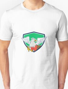 Hippogriff With Talons Shield Cartoon T-Shirt