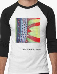 Flame Abstract  Men's Baseball ¾ T-Shirt