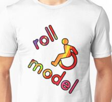 Roll Model - Disability Tees - in bright colours Unisex T-Shirt