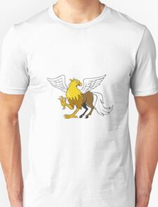 Hippogriff Prancing Isolated Cartoon T-Shirt
