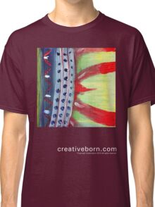 Flame Abstract dark t-shirt Classic T-Shirt