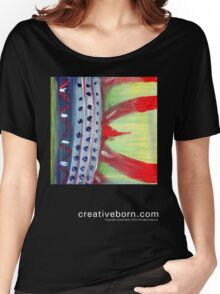 Flame Abstract dark t-shirt Women's Relaxed Fit T-Shirt