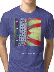 Flame Abstract dark t-shirt Tri-blend T-Shirt