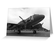 C-47 Skytrain , Duxford Spring 2015 Greeting Card