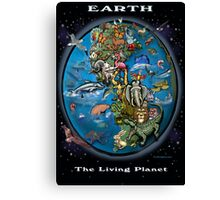 EARTH The Living Planet Canvas Print