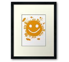 smiling planet Framed Print
