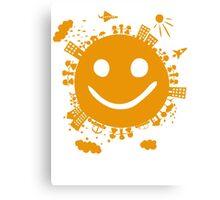 smiling planet Canvas Print